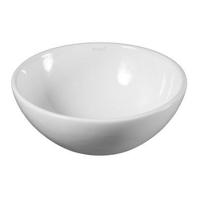 Bacha circular loza de apoyo Bowl 28.5 x 11.5 cm blanco