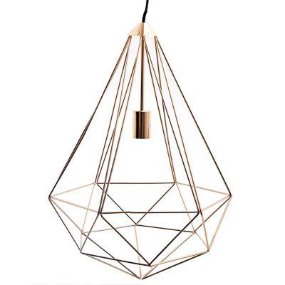 Lámpara colgante Jaula cobre E27