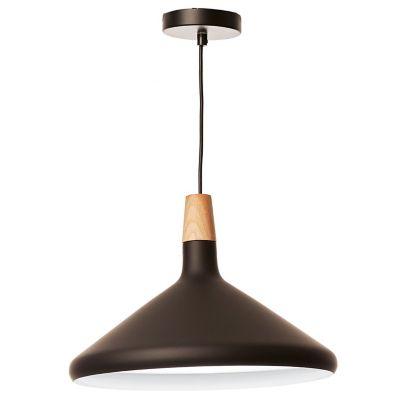 Lámpara colgante plato nórdico negra