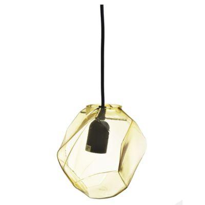 Lámpara colgante Glass amarillo 1 luz E27