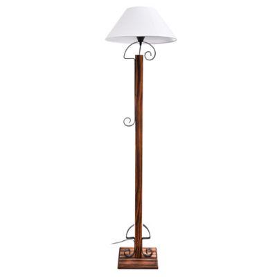 Lámpara de pie Madera y hierro con pantalla 1 luz E27