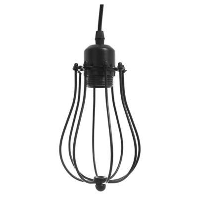 Lámpara colgante Jaula metálica 1 luz E27