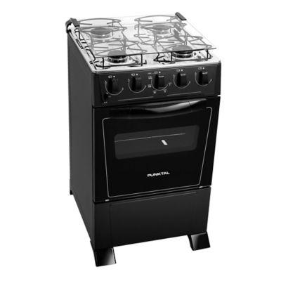 Cocina a gas Monte Carlo PK-375C 49,5 cm 4 hornallas negra