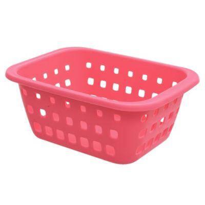 Canasto organizador de plástico rosa 1,4 L