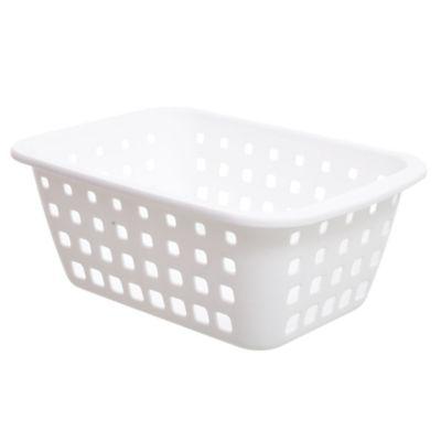 Canasto organizador de plástico blanco 2,9 L
