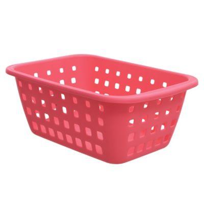 Canasto organizador de plástico rosa 2,9 L