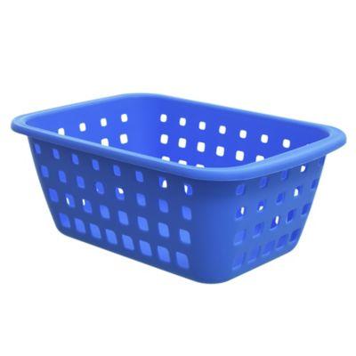 Canasto organizador de plástico azul 2,9 L