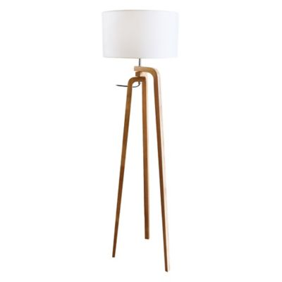 Lámpara de pie con pantalla Trípode