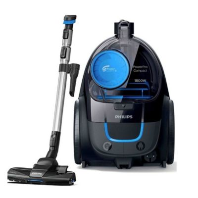 Aspiradora negra y azul 1800 w