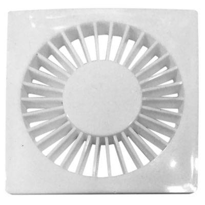 Rejilla plástica redonda blanca de 10 cm