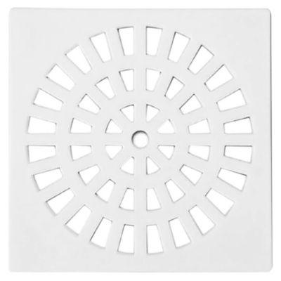 Rejilla plástica cuadrada blanca de 15 x 15 cm