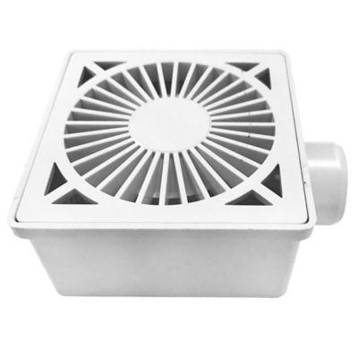 Caja sifón para ducha blanca 10 x 10 cm