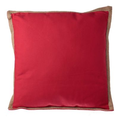 Almohadón 50 x 50 cm Yute rojo