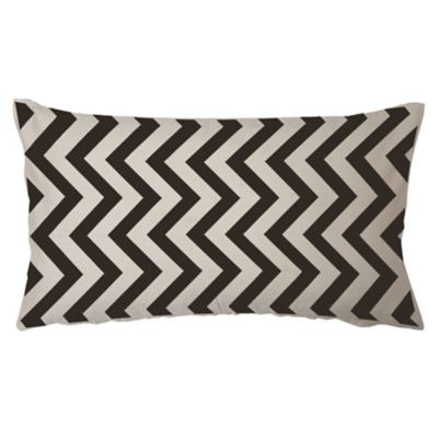 Almohadón decorativo panamá zigzag negro 60 x 30 cm