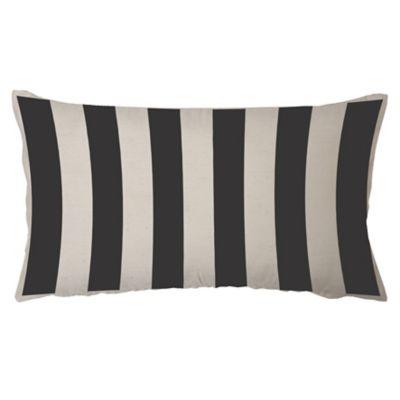 Almohadón decorativo panamá rayas negro 60 x 30 cm