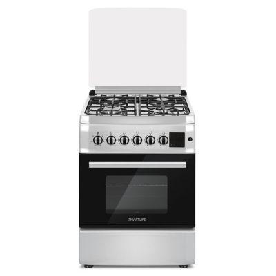 Cocina combinada SL-KS6060C 60 cm 4 hornallas plateada