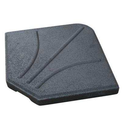 Base para sombrilla lateral 25 kg 1/4 negra