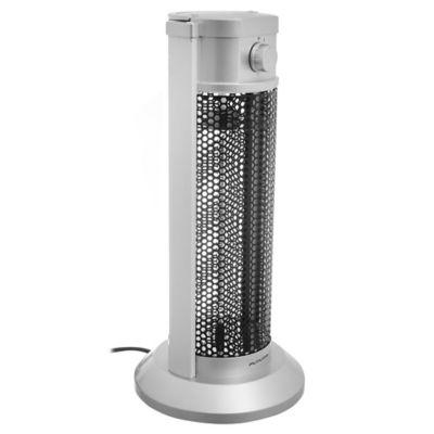 Calentador de fibra de carbono gris y negro 900 w