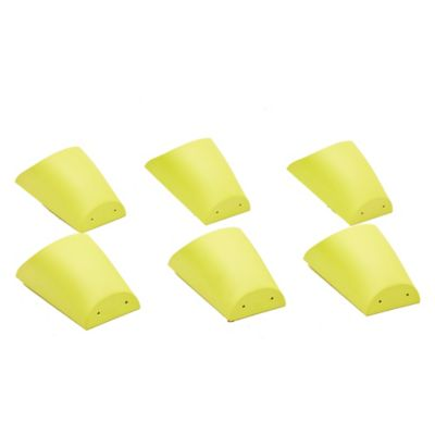 Pack de 6 macetas plásticas con soporte lima