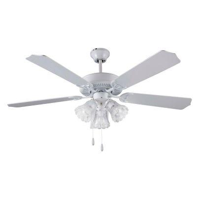 Ventilador de techo Sage 5 aspas 3 luces blanco