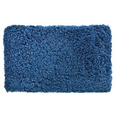 Alfombra de baño Peludo 50 x 80 cm azul