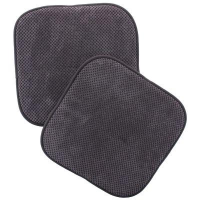 Pack de 2 almohadones para sillas Memory 40 x 40 cm gris