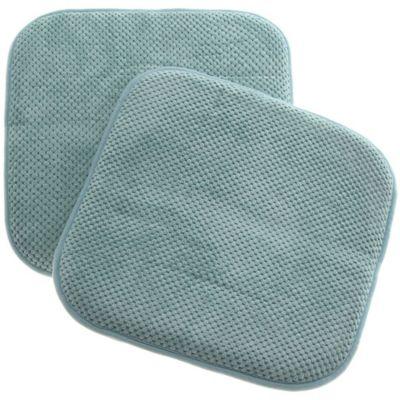 Pack de 2 almohadones para sillas Memory 40 x 40 cm turquesa
