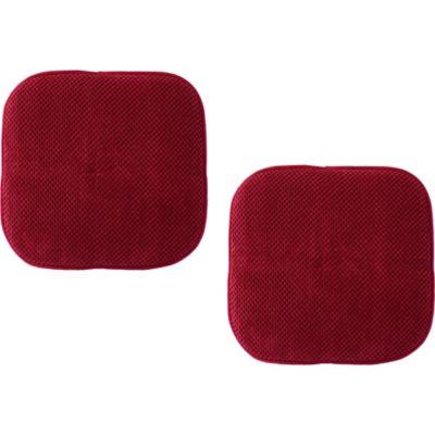Pack de 2 almohadones para sillas Memory 40 x 40 cm rojo
