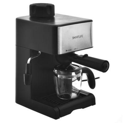 Cafetera 800 w negra y plateada