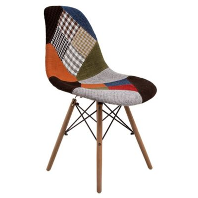 Silla de comedor Eames Patchwork multicolor