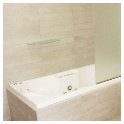 Porcelanato satinado 62 x 62 cm Concreto blanco 1.92 m2