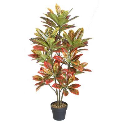 Planta artificial Croton 130 cm con maceta