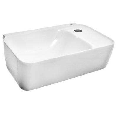 Bacha rectangular cerámica colgante Eco 40 x 26 x 12.5 cm blanco