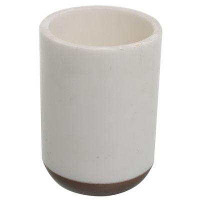Vaso Ashara blanco y marrón