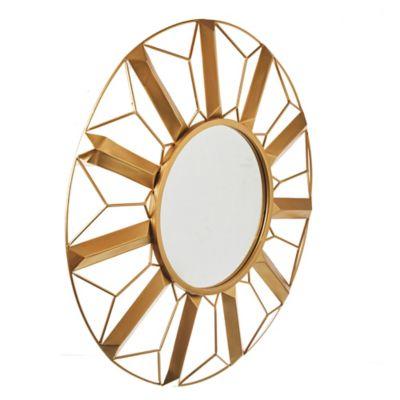 Espejo Potrici redondo dorado 83 x 83 cm
