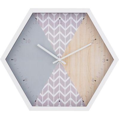 Reloj de pared hexagonal 39,5 x 34,2 cm
