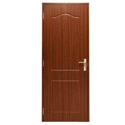 Puerta de interior MDF 76 X 204 cm marrón derecha