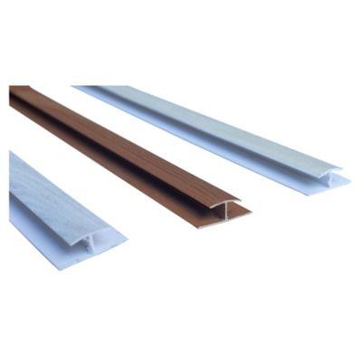 Perfil PVC H marrón