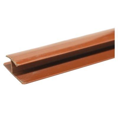 Perfil PVC top media caña marrón