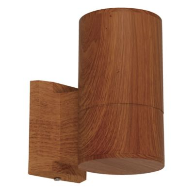 Aplique exterior cilindro unidireccional madera E27
