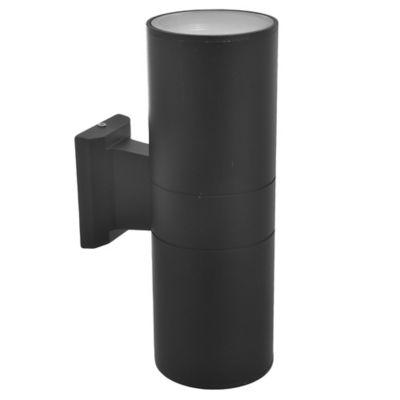 Aplique exterior cilindro R80 bidireccional negro 2x E27