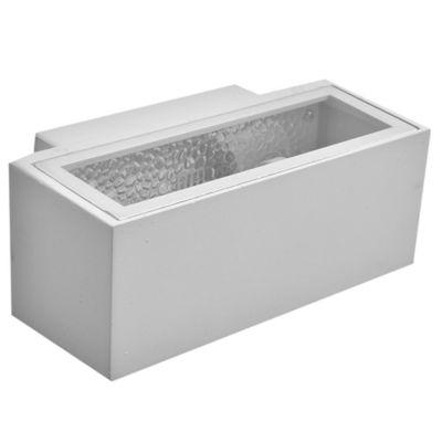 Aplique exterior rectangular blanco E27