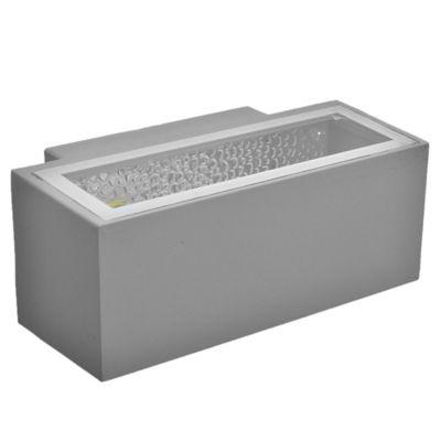 Aplique exterior rectangular gris E27