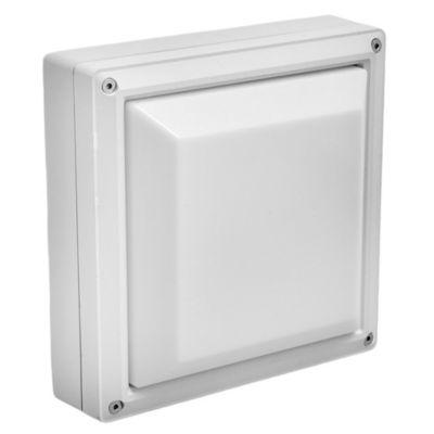 Aplique exterior de techo blanco E27