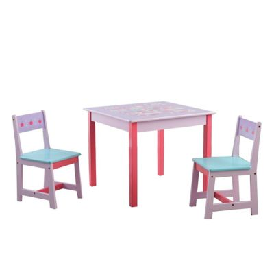 Juego de mesa y 2 sillas infantil Gatitos