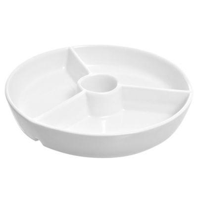 Plato de snacks de cerámica