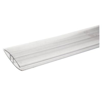 Perfil H de policarbonato 4/6 mm 5,80 m transparente