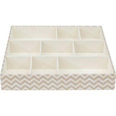 Organizador de tela 9 espacios blanco y gris 30.5 x 30.5 cm