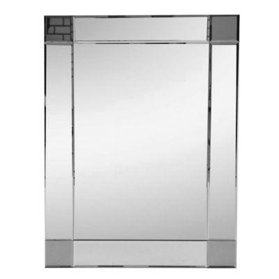 Espejo de baño marco oscuro 50 x 70 con