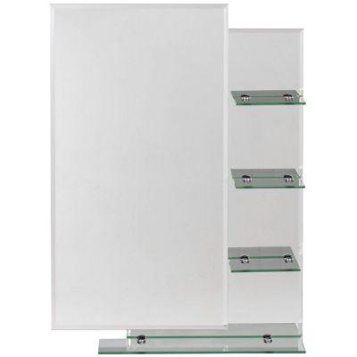 Espejo de baño con 4 repisas 70 x 50 cm